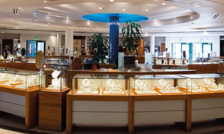Kirk Freeport presents flagship location in the Bayshore Mall of George Town in the Grand Cayman Islands